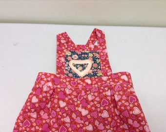 18 month size Valentine's day girls overalls