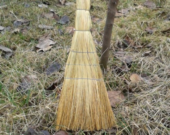 ON SALE Fireplace Broom,Traditional Broom,Natural Broom,Rustic Wedding,Small Broom, Harry Potter Dust Pan, House Protection,Broom Supply