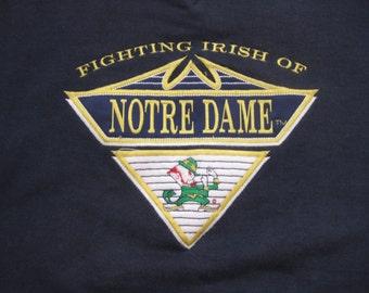 Vintage Notre Dame University Sweatshirt 90s Fighting Irish Adult Medium