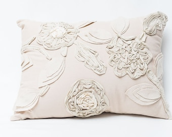 Cushion Sping Embrodery Flowers