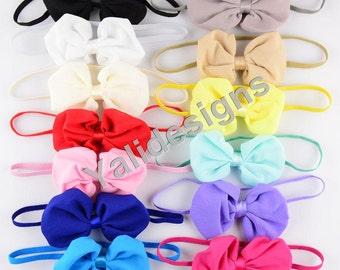 Colorful Baby Headbands Chiffon Bowknot Headband Wrap Newborn Fashion Bow Heaband   -YTK31