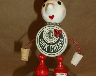 "Salvage Art Doll  ""Corky"""