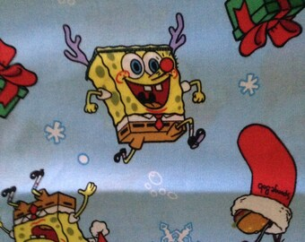 Sponge Bob Xmas Holiday Library Bag, Swim Bag, etc