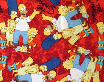Simpsons on Red Library Bag, Swim Bag, etc