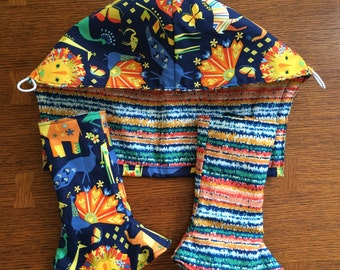 Custom made In The Wild Tula or Roar tula accessories. drool pads are Fully lined and reversible. Lion love!