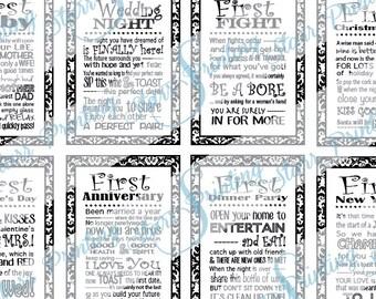 Set of 10 Instant download - set of 10 bridal shower wine tags (digital file - PDF)