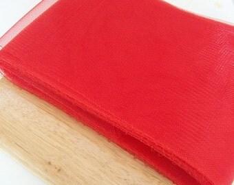 """Crin Fabric UK red horsehair crin 6"""" (crinoline horsehair braid) 6 inch (16 cm) crinoline fabric  Sold per YARD (continuous)"""