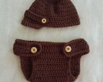 Newsboy Hat & Diaper Cover Set,0-3 month,Newsboy Photo Prop,Crochet Boy,Infant Newsboy Hat,Photo Prop Boy,Newsboy Baby Hat,Ready To Ship