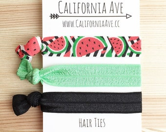 Watermelon Hair Tie Set of 3