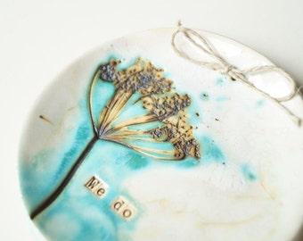 Wedding Ring Holder, WE DO,  Wedding Ring Plate, Ring Bearer Pillow Alternative, Engagement Ring Bowl, Ceramic Plate, Ceramics and Pottery
