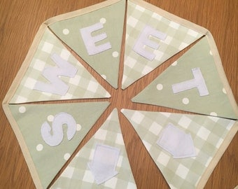 Home Sweet Home Bunting, Personalised Bunting