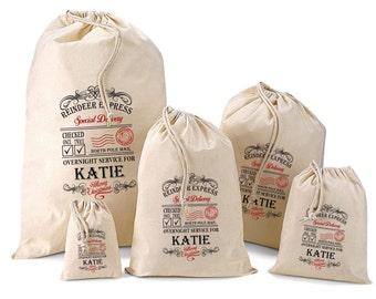 Personalised Santa Sack & Gift Bags - Katie Design