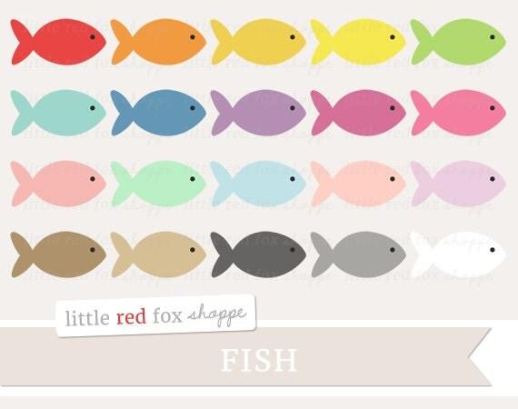 Fish Clipart, Animal Clip Art Nautical Ocean Goldfish Sea ...