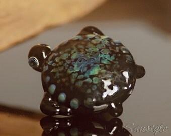 Turtle - Lampwork focal lentil bead