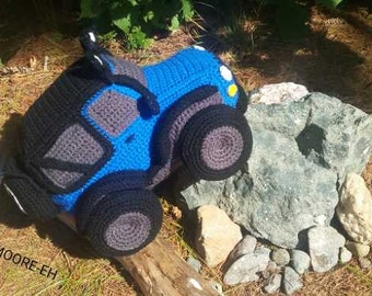 CROCHET PATTERN Only - Off Road Jeep Softee 4x4 Truck Plush Toy for Boys & Girls Child Amigurumi Intermediate Pattern Photo Tutorial