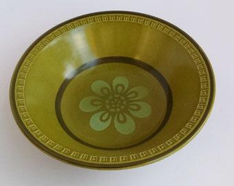 Empress Suzuka Haruta Mosaic Stoneware Serving Bowl in Avocado Green