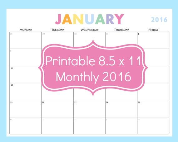 Printable Calendar 5 Day Calendar 5 Day Weekly By