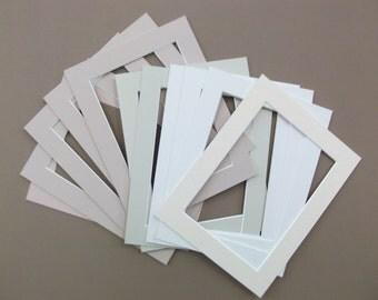 9 x 7 mount - matting - art work mats - photo mats - 7 x 5 aperture - frame accessory - artist supplies - photographer pack