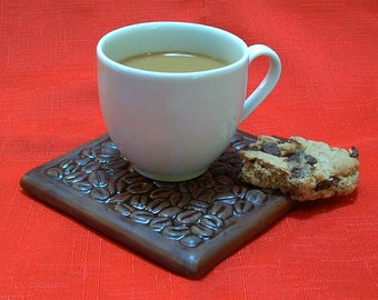 Coffee Coaster/coffee lovers gift/ French Roast coaster/tile coaster