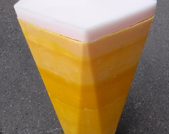Multi Tone Pentagon Pillar Candle / Scented Soy Wax Pillar Candle / Custom Pillar Candle / Pentagon Pillar / Reversible Pillar Candle