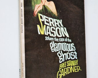 1960s Pocket Book Perry Mason solves the case of the glamorous ghost by Erle Stanley Gardner