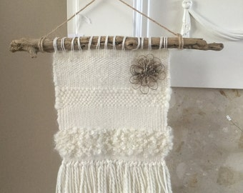 Woven Wallhanging in Cream