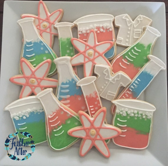 Science Baby Gifts Australia : Science lab cookies perfect for a themed birthday