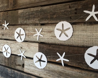 Sand Dollars-Mermaid Party Garland- Under the Sea, Baby Shower, Birthday Party, Beach Party
