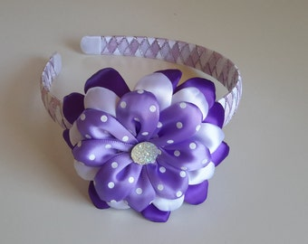 Purple girls headband, hard headband
