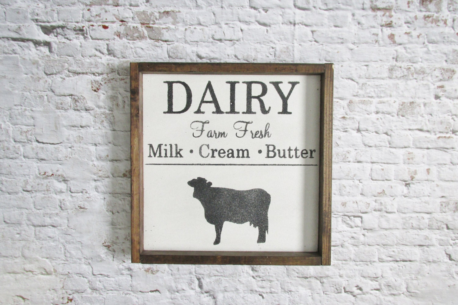 dairy wood sign. rustic kitchen decor. rustic signs. wooden