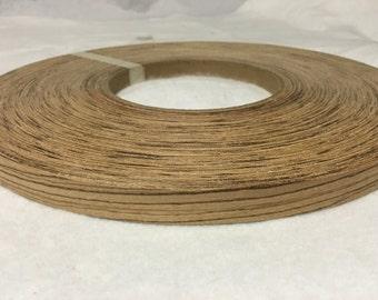 """zebra wood pre glued  ( 5/8"""" to 3""""x250' ) Wood veneer edgebanding"""