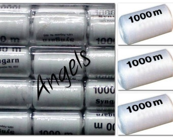 unmissable opportunity !!!! 12 White sewing thread 1000 m