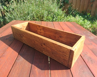 Reclaimed wood small planter window box