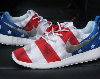 Nike Roshe Run Black Anthracite American Flag Pride By