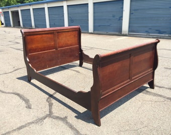 Full Size Solid Wood Sleigh Bed