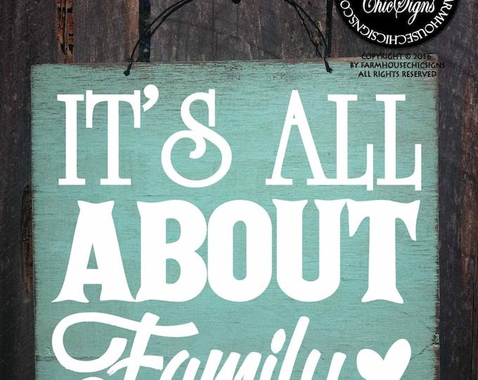 family, family decor, family decoration, it's all about family sign, family sign, family wall art, family wall decoration, all about family