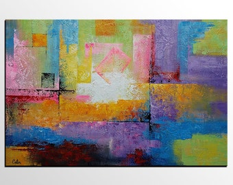 Large Art, Oil Painting, Original Painting, Canvas Wall Art, Framed Art, Abstract Art, Abstract Painting, Abstract Wall Art, Wall Hanging