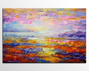 Abstract Landscape Painting, Canvas Art, Original Art, Large Art, Abstract Art, Canvas Painting, Abstract Painting, Wall Art, Landscape Art