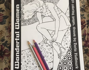 "Femme Erotica Coloring Book ""Wonderful Women"" by Darla Hallmark MATURE"