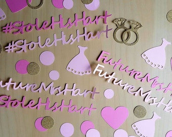 Wedding Confetti, Wedding Table Scatter, Wedding Decorations, Wedding Supply, Future Mrs, Future Mrs Decor, Bride To Be, Heart Confetti