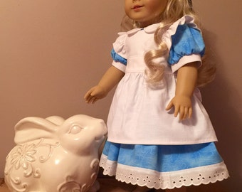 "Alice in wonderland for the American girl or 18"" doll"