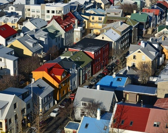 Reykjavik Colors * Photographic Art * Travel Photography * Unedited * Reykjavik * Bright Colors