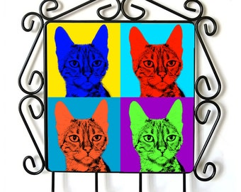 Toyger- clothes hanger with an image of a cat. Collection. Andy Warhol Style