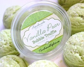 Vanilla Pear Bubble Truffle Scoops - with Organic Shea Butter,Cocoa Butter and Pink Himalayan Salt,Bubble Bomb,Bubbling Bath Melt,Bath Fizzy