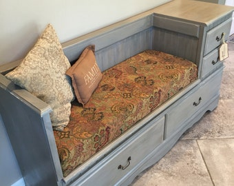 Storage Bench From Upcycled Dresser