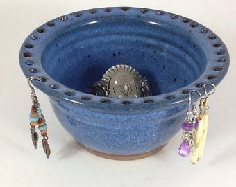 Jewelry Organizer, Pottery Jewelry Bowl, Earring Holder