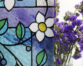 Lilly Floral Stained Glass Window Film