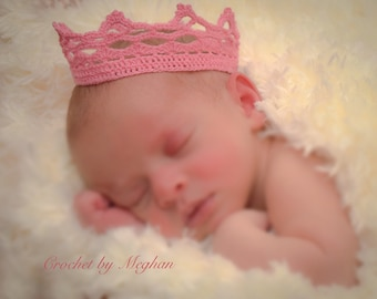 Princess Crown, Newborn, Handmade, Crochet