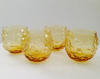Set of 4 Vintage Anchor Hocking Milano Lido Glasses