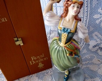 "Royal Doulton England HN 2902 ELYSE MAYNARD 12"" tall Figurine - W.K. Harper with its Original Box"